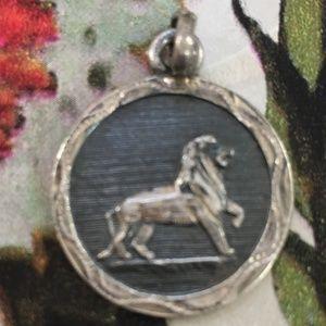 Vintage Sterling Silver Lion Pendant